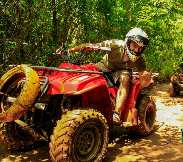 Show item 1 of 10. ATV, Ziplining & Cenote Combo at Extreme Adventure Eco Park