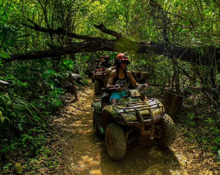 Show item 2 of 10. ATV, Ziplining & Cenote Combo at Extreme Adventure Eco Park