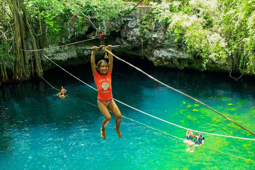 Show item 10 of 10. ATV, Ziplining & Cenote Combo at Extreme Adventure Eco Park