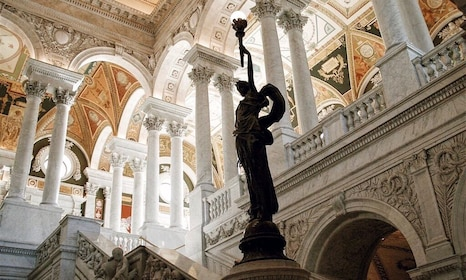 Sculpture inside the Library of Congress