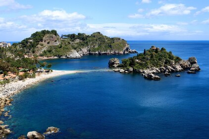 Scenic day view of Isola Bella, an island in Italy