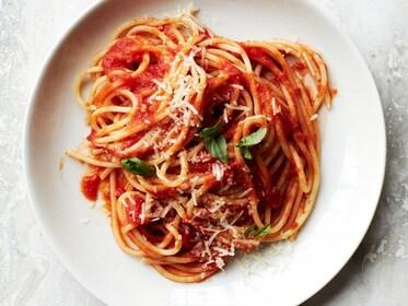 Plate of pasta in Taormina