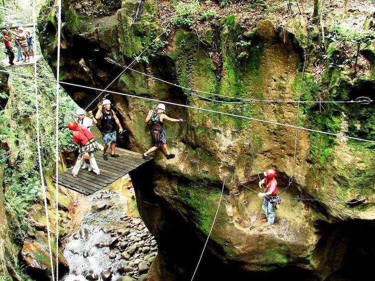 Show item 1 of 10. Canyon Ziplines at Hacienda Guachipelin