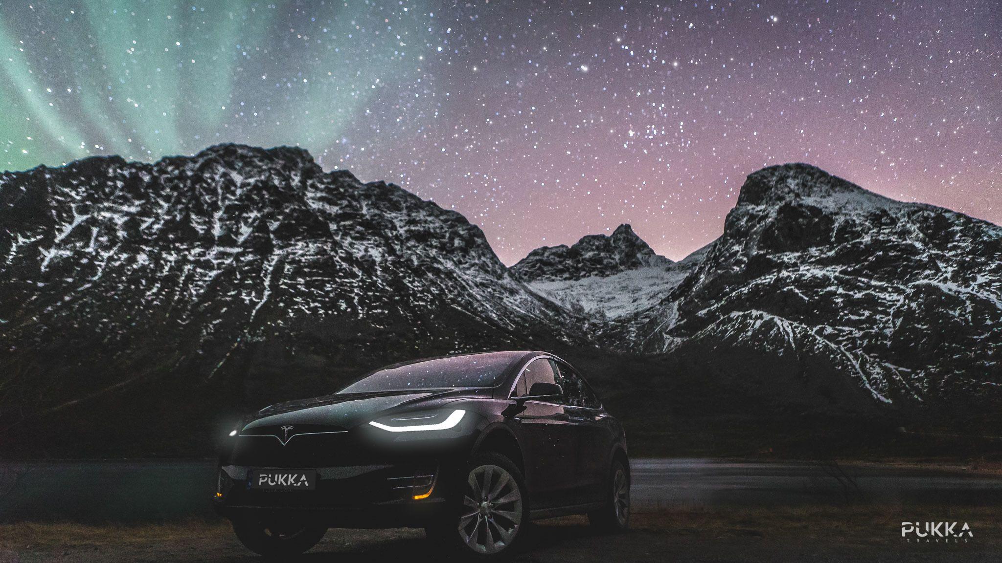 Aurora Borealis and a Tesla
