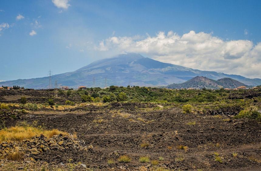 Landscape view of Mount Etna
