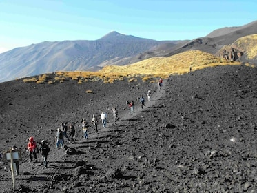 Group hiking adventure at Mount Etna