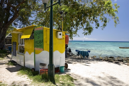 Food stand on a beach in Mauritius
