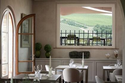 Vineyard restaurant in Tuscany
