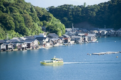 Wooden fishing houses in Ine, a Town in Japan