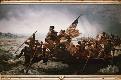 Washington Crossing the Delaware painting at the Metropolitan Museum of Art in New York