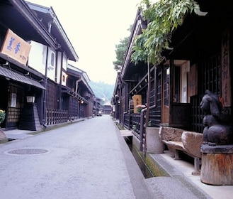 Small street in a village in Japan