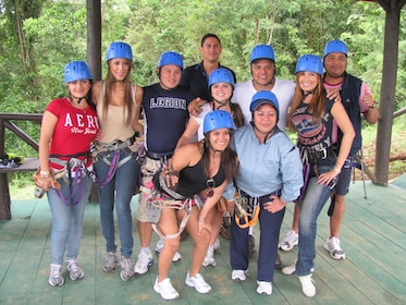 Ziplining group in Costa Rica