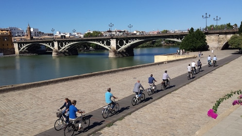 Bicycling group in Seville