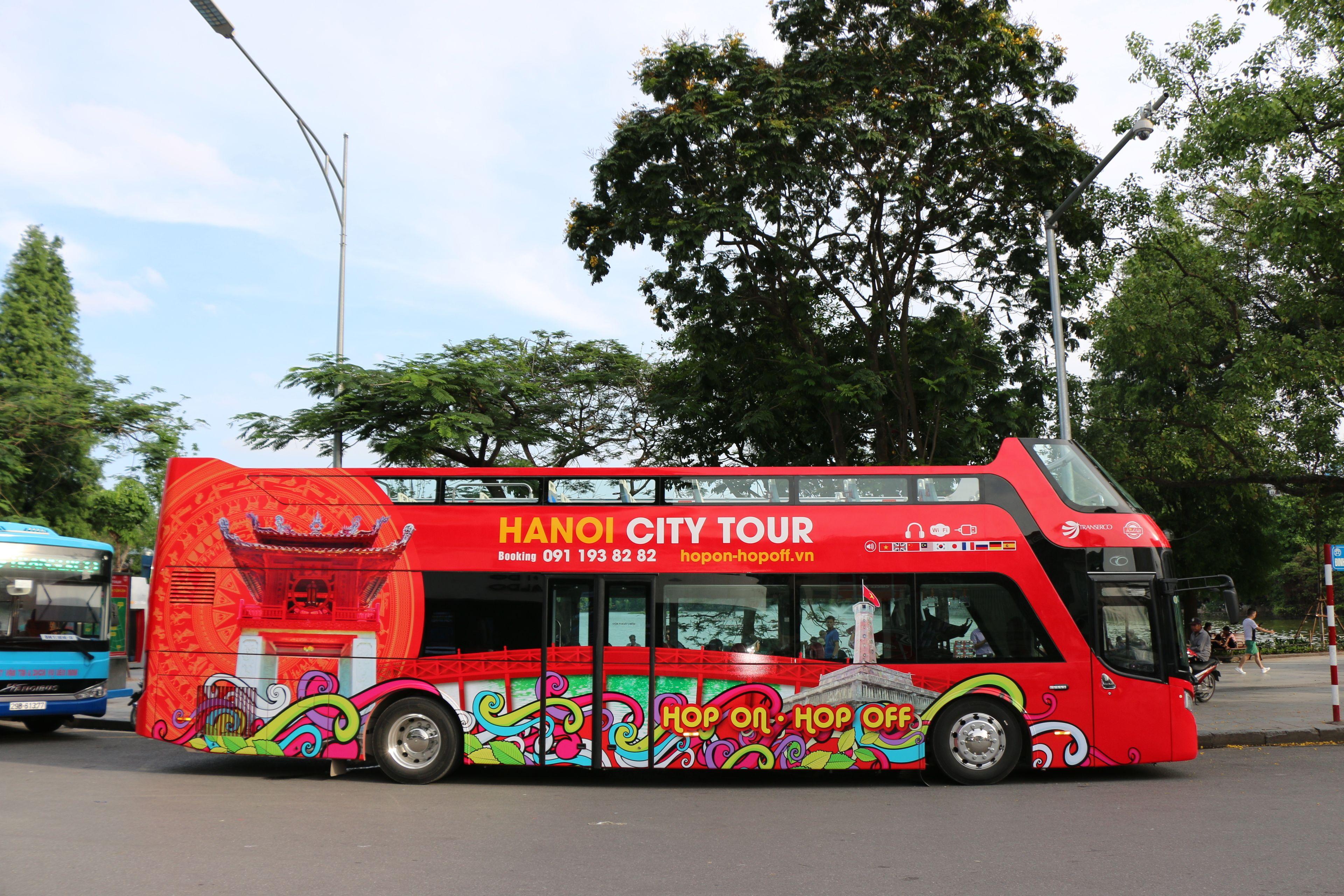Hanoin hop-on hop-off -kaupunkikierros bussilla