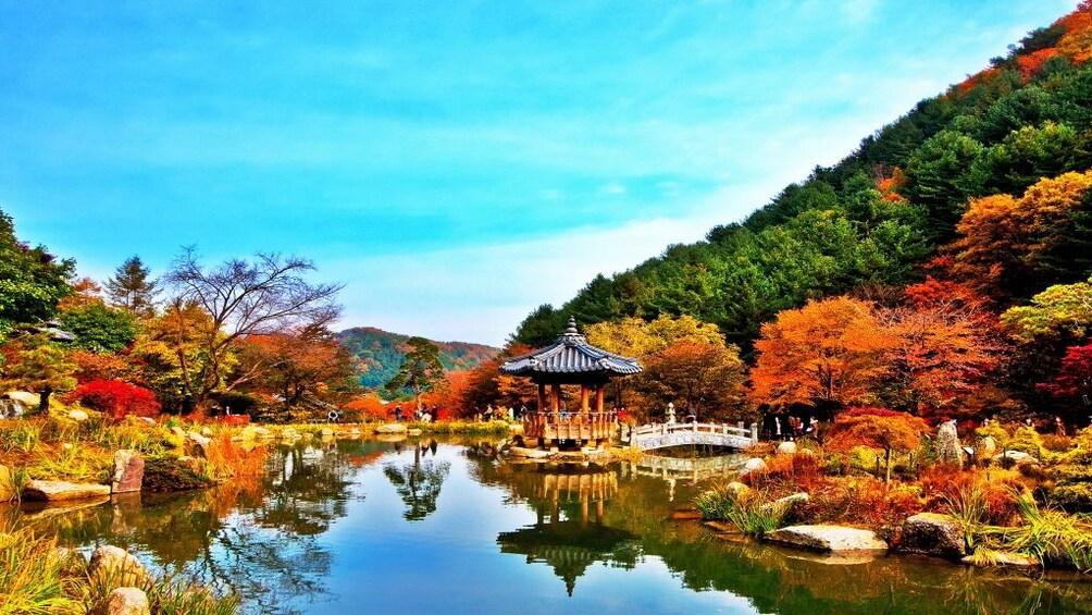 正在顯示第 3 張相片,共 8 張。 Pond and mountain in a garden in Gyeonggi-do