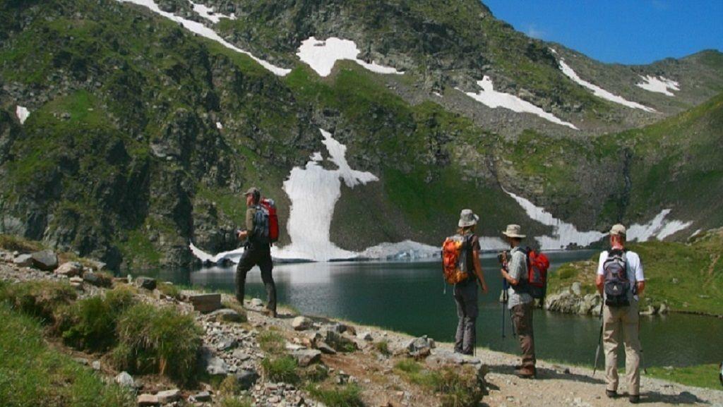 Group walking along The Seven Rila Lakes