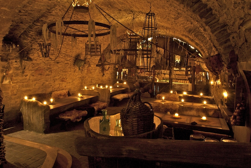 Show item 1 of 9. Dining area for the Medieval dinner in Prague