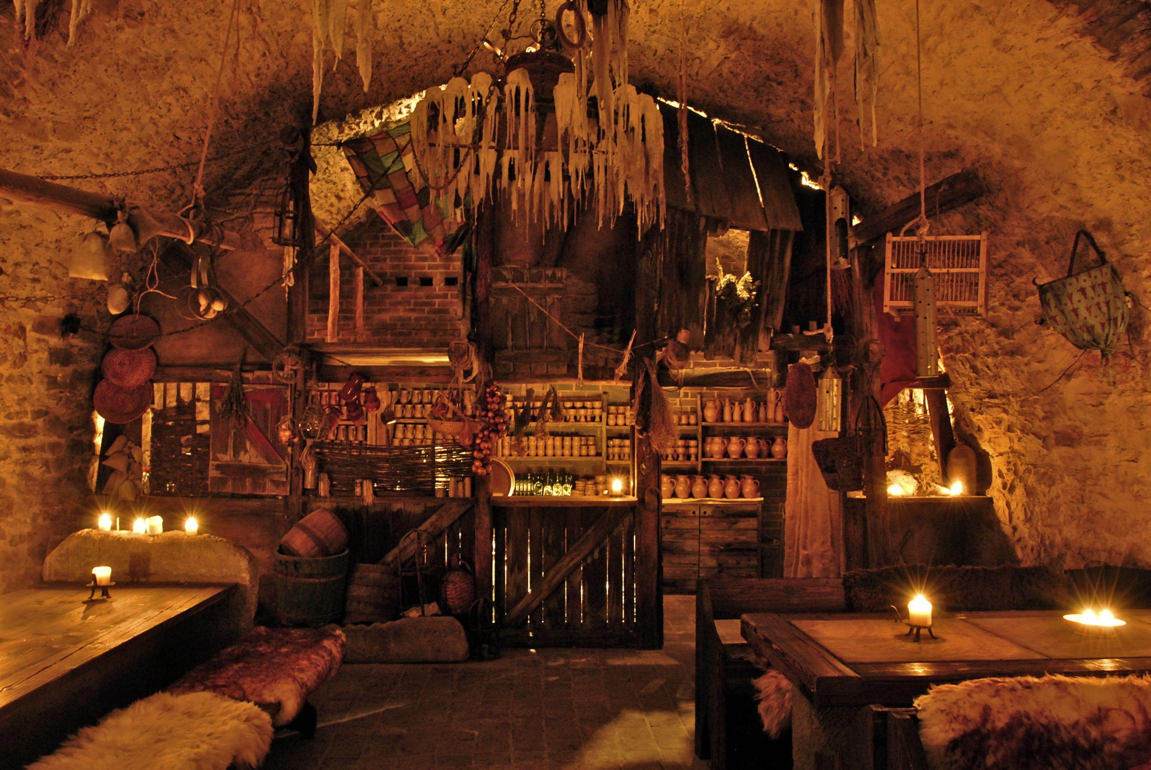 Medieval dinner venue in Prague