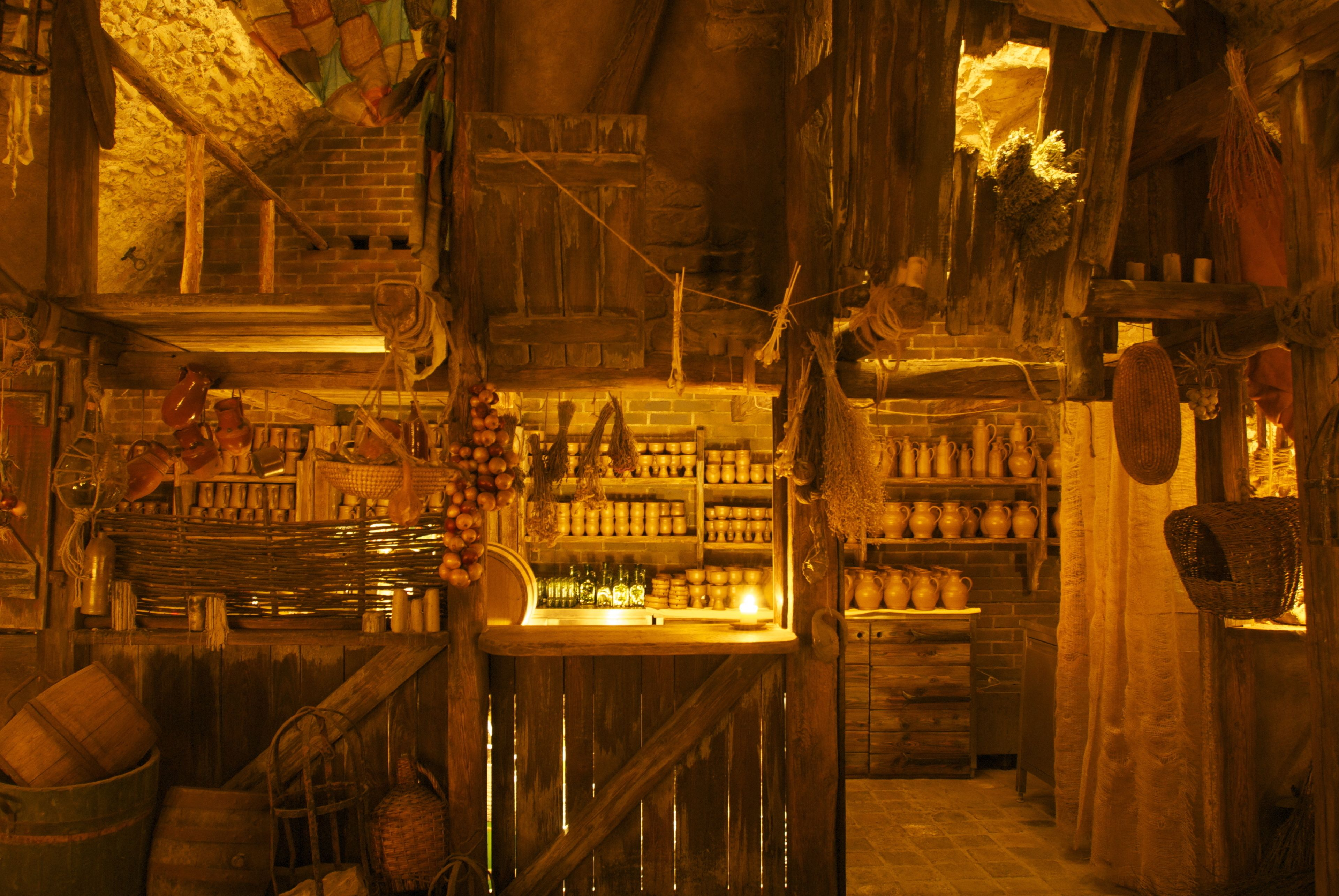Views of the Medieval dinner venue in Prague