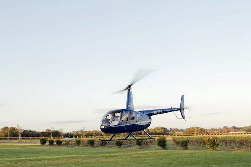 Show item 1 of 2. Helicopter in Hunter Valley
