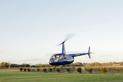Helicopter in Hunter Valley