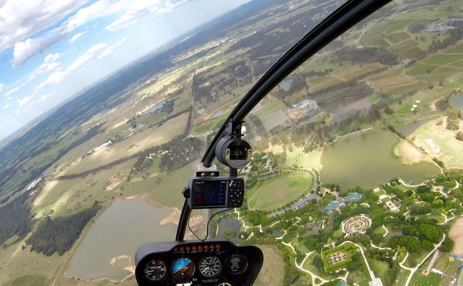 Show item 2 of 2. View of Hunter Valley from a helicopter