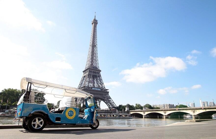 Tutuk near the Eiffel Tower in Paris