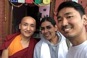 Monkey Temple Tour with a Monk - Swoyambhu Stupa