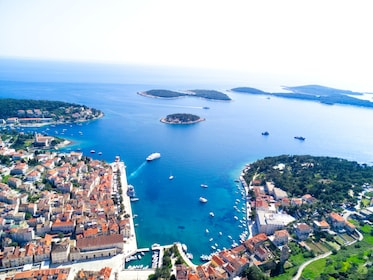 Aerial view of Hvar