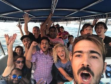 Passengers a boat touring Split
