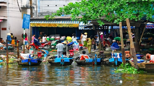 Boats in My Tho, Vietnam