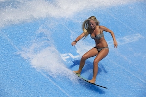 Surfing on a Flowrider