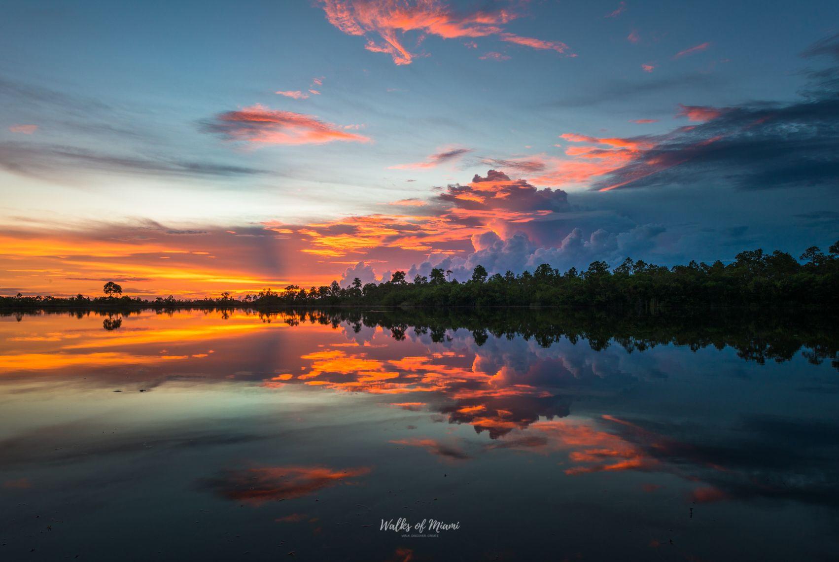 Sunset views of Everglades National Park