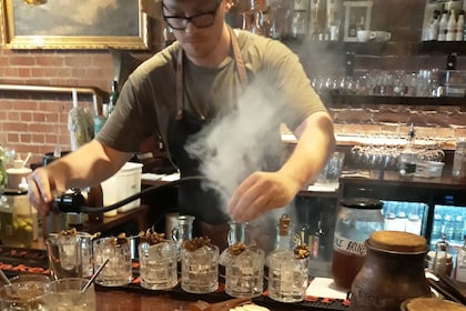 Cocktails being mixed by a bartender in Wellington