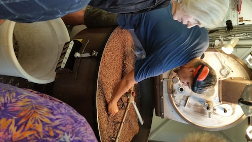 Group visiting a coffee roaster in Wellington