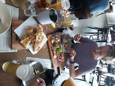 Foodies enjoying a meal together in Wellington