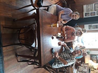 Guests drinking beer in Wellington