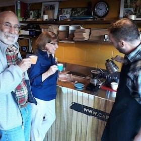 Guests tasting coffee in Wellington