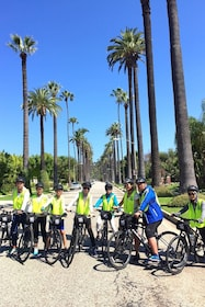 Group on a guided bike tour in West Hollywood