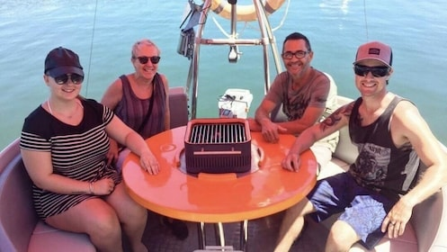 Group on a BBQ boat in Australia