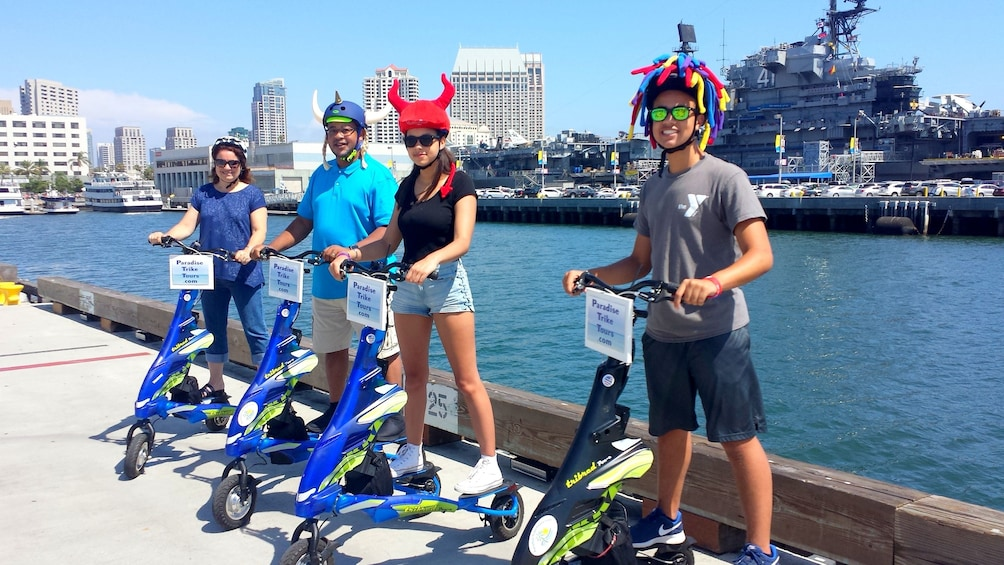 Show item 5 of 5. Group triking in San Diego