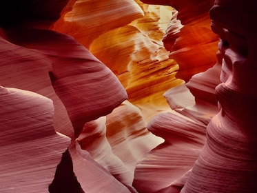 Beautiful rock formations that make up Lower Antelope Canyon at the Grand Canyon