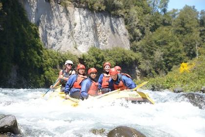 Group white water rafting in Tongariro River