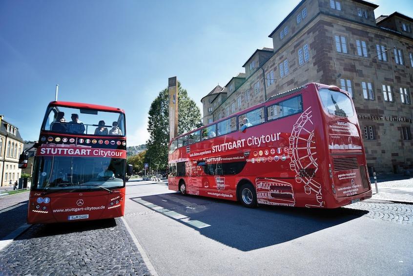 Hop-on hop-off bus in Stuttgart