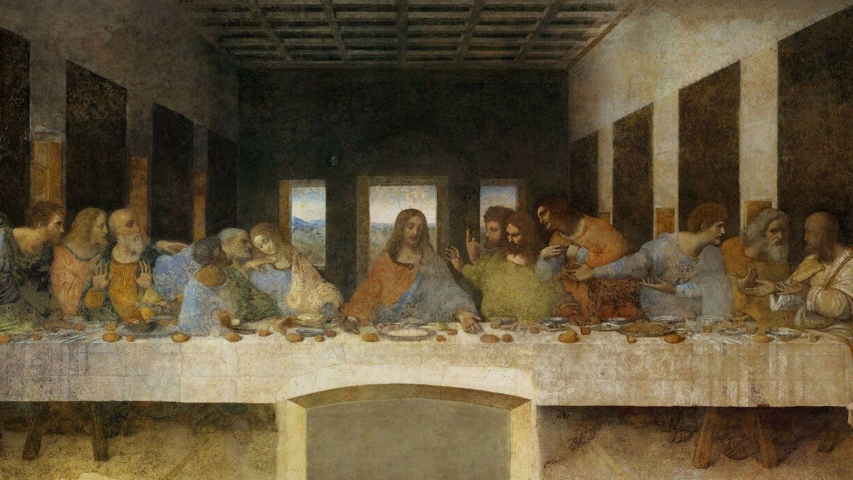DaVinci's last supper at the Santa Maria delle Grazie monastery in Milan, Italy