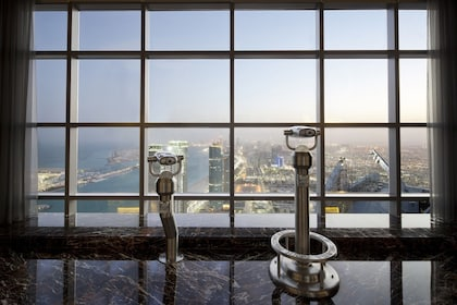 Look out from Jumeirah at Etihad Tower Abu Dhabi