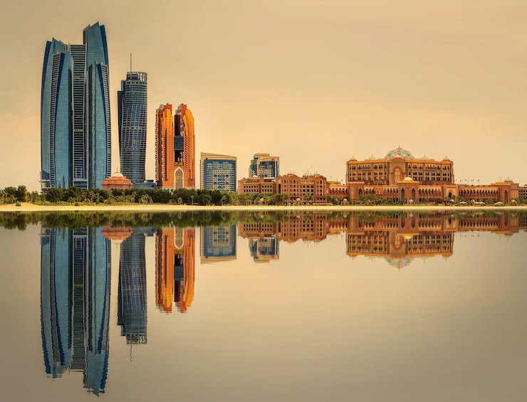 Show item 3 of 8. Evening view of Abu Dhabi