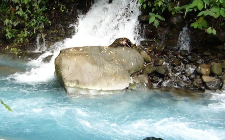 Waterfall at the the Blue River Resort and Hot Springs Hotel in Liberia