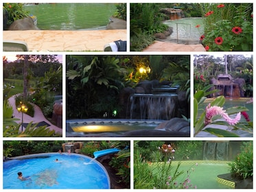 Collage of the Blue River Resort and Hot Springs Hotel in Liberia