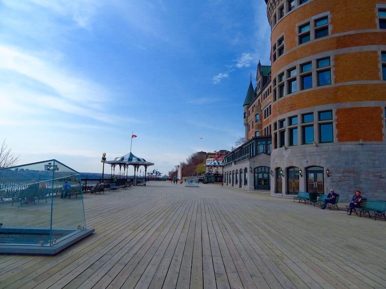 Show item 6 of 6. Quebec City boardwalk